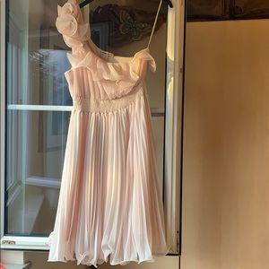 Double Zero blush pleated dress size L